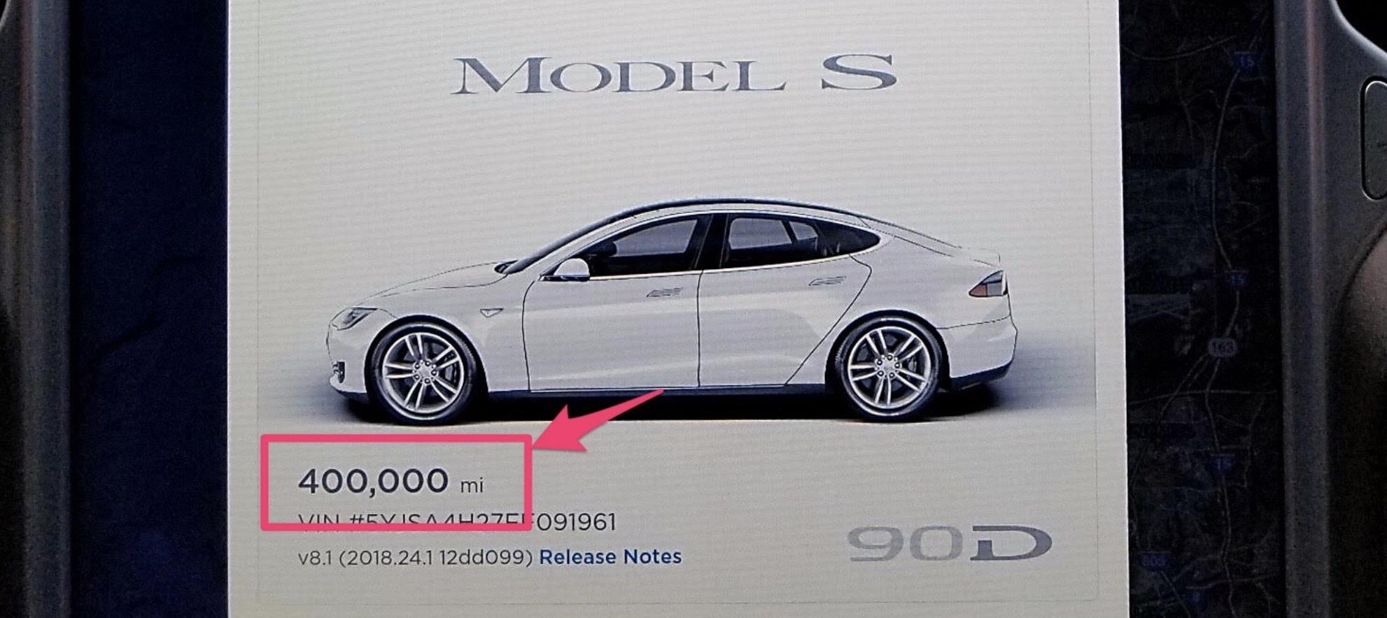 """Complimenti alla Model S """"eHawk"""": 643000 chilometri in tre anni!"""
