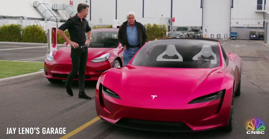 La nuova Roadster ospite nel garage di Jay Leno