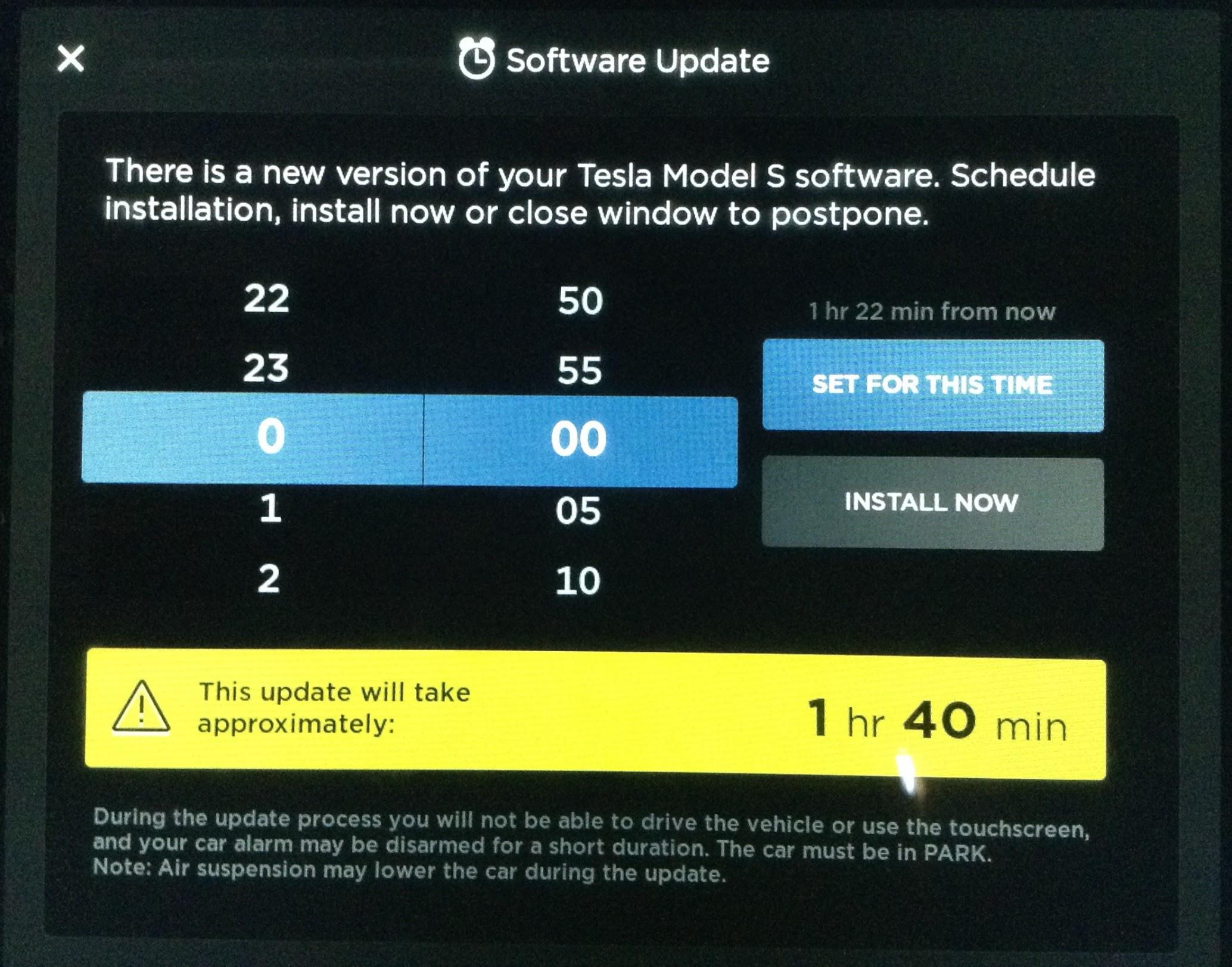E' finalmente iniziato l'invio dell'aggiornamento V9.0 a tutte le Tesla!