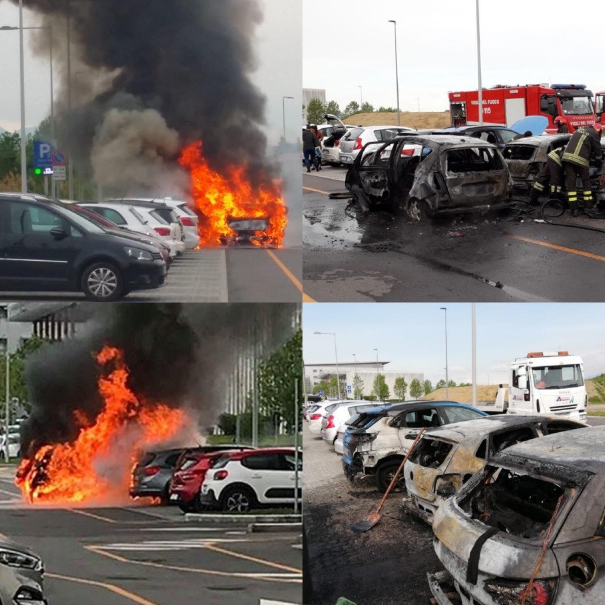 Un'altra auto a fuoco!